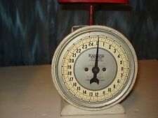 SCALE,VINTAGE HANSON COUNTER,UTILITY SCALE MODEL 2000 25 LB.BY OUNCE RED TRAY