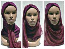 Kuwaiti Hejab Mona Hijab Abaya Muslim Islamic Headcover PLUM Women Head Scarf