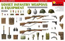 MiniArt 1/35 Scale - Soviet Infantry Weapons & Equipment Plastic Model 35304