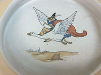 Vtg Shelley China Nursery Rhyme Mother Goose Juvenile Baby Plate Dish