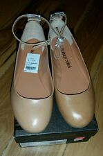 Luxury Rebel Size 8 Woman's Tan Ankle straps flat shoes Brand New!