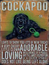 Black Cockapoo dog .., Colourful Metal 20cm x 15cm Sign,