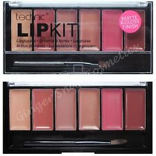 Technic Lip Gloss Lipstick Palette Set Kit Makeup GIFT Nudes Brown Bronze Honey