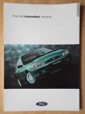 FORD MONDEO VERONA orig 2000 UK Mkt Sales Brochure