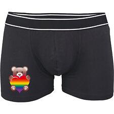 Boxer Shorts - Rainbow Pride 23 - Underpants - Pants - Rainbow Teddy Heart Gay