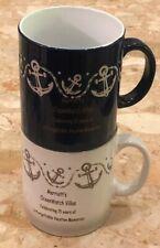 2 Marriott's OceanWatch Villas Nautical Anchor  Ceramic Mug Coffee Cup 24 Oz