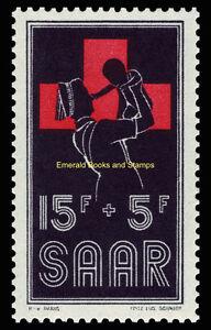 EBS Germany 1955 SAAR - Red Cross Nurse & Baby - Rotes Kreuz - Michel 360 MNH**