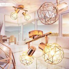 2-flammige Decken Lampe Wohn Schlaf Raum verstellbar Flur Strahler Kupferfarben