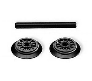 LEGO Train 2 x Wheels With Friction Band and Technics Axle Parts 55423c01 & 3706