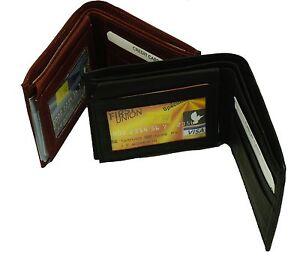 Bifold Genuine Leather Wallet Men's Genuine Leather  Credit/ID Card Holder #90/7