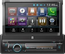 "Dual 1-DIN 7"" Touchscreen Car Stereo DVD Multimedia Player Receiver w/ Bluetooth"