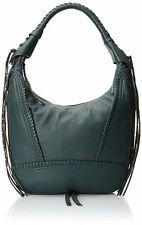 NWT Oryany Michelle Leather Hobo Soft Nappa Leather, Evergreen, Back Zip Pocket