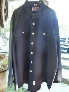 2 Vintage Flying Cross 19 - 35 Long Sleeved Uniform Shirts USA Black