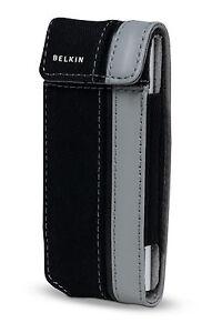 Belkin Canvas Flip Case for Ipod Nano 1G 2G 1st 2nd Gen Black/Grap F8Z129-kg