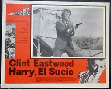 DIRTY HARRY ORIGINAL MEXICAN LOBBY CARD CLINT EASTWOOD  ANDREW ROBINSON 1971