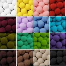 SOFT POMPOMS POM POMS XL 2 cm, best quality, mixed colors x10, x50, x100 bobbles