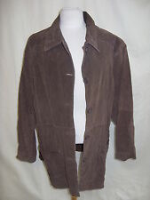 Ladies Coat - Concepts by Karen, size 2X, brown, 100% suede, casual, used - 7684