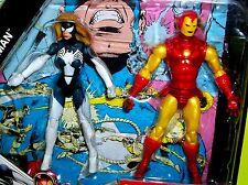 Marvel Universe IRON MAN SPIDER WOMAN Secret Wars Comic Book #7 Action Figures