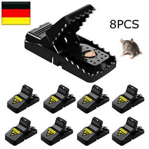8x Rattenfalle Falle mit Mausefalle Schlagfalle Köderfalle Super Wirksam