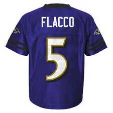 (2016-2017) Baltimore Ravens JOE FLACCO nfl Jersey YOUTH KIDS BOYS (XL)