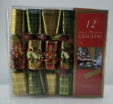 Christmas Holiday 12 Deluxe Christmas Crackers Tree Wreath Wire Embellishments