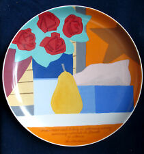 TOM WESSELMANN - ROSENTHAL Künstlerteller No.21, 26cm sign. WIE NEU + SELTEN