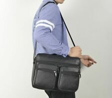 Mens Business Shoulder Bag Big capacity Genuine Leather shoulder Crossbody Bags
