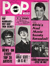 Pop Weekly Magazine 5 December 1964  The Rolling Stones  The Beatles Kathy Kirby