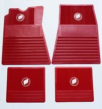 1961-1975 Buick Floor Mats | Red with Tri-Shield | FM615SR