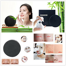 Handmade Black Bamboo Charcoal Soap Face Whitening Remove Blackhead Oil-Control