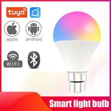 LED Wifi Smart Light Bulb Dimmable RGBW Lamp E27 B22 For Alexa Google Home