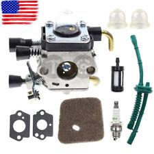 NEW Carburetor For STIHL KM55 HL45 KM55R FS38 w/Fuel Line Kit FS55 FS55R FS55RC
