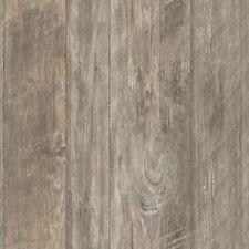 Rustic Living Rough Cut Lumber Grey / Brown on Sure Strip Wallpaper LG1322