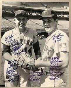 1969 NY Mets World Series Team Signed 16x20 Photo Tom Seaver Franchise Auto JSA