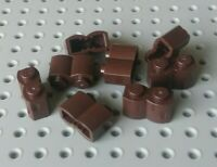 Lego Brick 1x2 with Corrugated effect [30136] Dark Brown x8