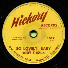RUSTY & DOUG (So Lovely Baby / Why Cry For You) CLASSIC COUNTRY 78 RPM RECORD