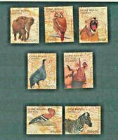 Wild Animals Guinea Bissau # 754 - 760 Mint NH Complete 1988 Set $11.50 Retail