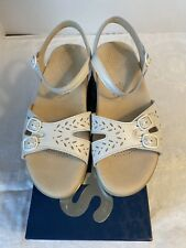 SAS Duo White Tripad Comfort Leather Shoes/Sandals NIB Size 9 Wide