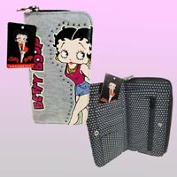 Betty Boop material Womens Ladies Wallet Purse Coin/Pouch/Card Slots Snap fasten