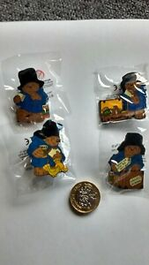 PADDINGTON BEAR  ENAMEL  PIN BADGES X 4 BRAND  NEW