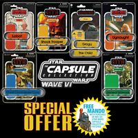 FREE MANDO OFFER!! Vintage Kenner STAR WARSName Capsule Wave VI patch set of 7