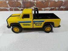 VINTAGE * Tonka Racing Team*Yellow Metal Toy Pick-up Truck~70's~mancave~ fan