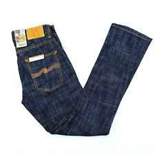 Nudie Jeans Grim Tim Skinny Button Fly Denim Dark Wash Jeans Mens 28x30 NWT $185