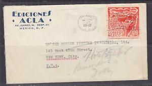 MEXICO, 1942 Censored cover, Mexico City to USA, 10c. Conference.