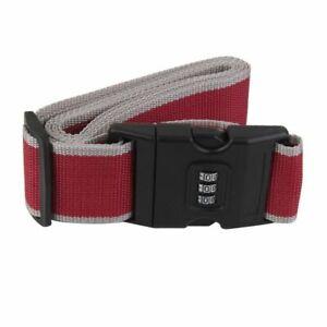 2 x Adjustable 3 Digit Belt Lock Travel Luggage Straps For Suitcase Bag