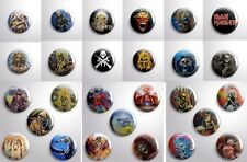 27 BUTTONS IRON MAIDEN HUGE LOT-  Pinbacks Badge Button 25mm 1'' FREE SHIPPING