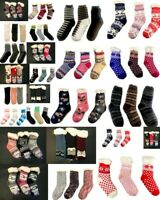 Womens Mens Kids Winter Non-slip Fluffy Lounge Bed Slipper Bed Socks Warm Fur