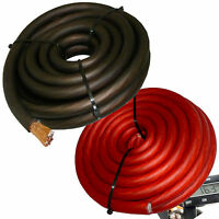 30FT 0 Gauge Primary Speaker Wire Amp Power Ground Car Audio 15' Red + 15' Black