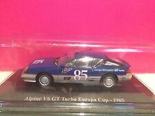SUPERBE ALPINE RENAULT V6 GT TURBO EUROPA CUP 1985 NEUF SOUS BLISTER 1/43 B1