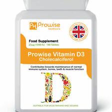 Vitamin D Supreme+ Normal Immune System Bones 180 Tablets 1000iu UK Made